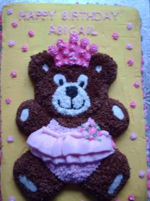 Teddy in a Tutu Cake Aug 2013