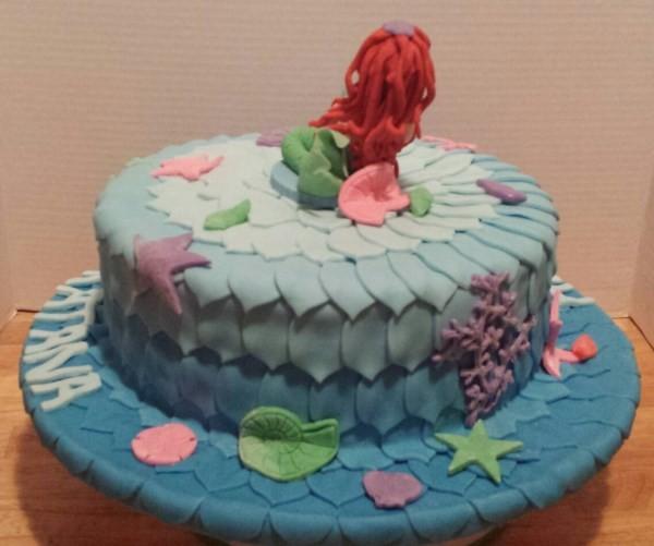mermaid cake back