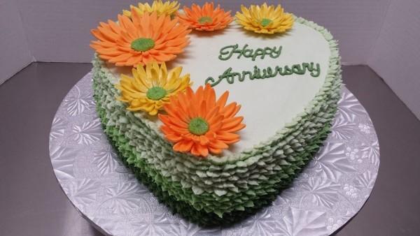 Gerbera Daisy Anniversary Cake