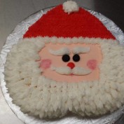 Upside Down Heart Shaped Santa Face Pretty Cake