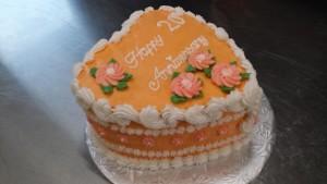 Orange Anniversary Cake