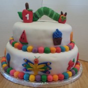 Hungry Caterpillar Birthday Cake