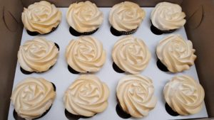 Cupcakes with edible gold paint